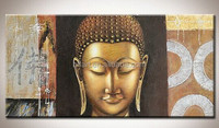 Btf Large Buddha Frame Painting Modern Laugh Buddha Face Painting