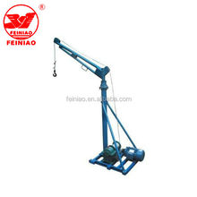 China single pipe mini crane, construction portable small crane