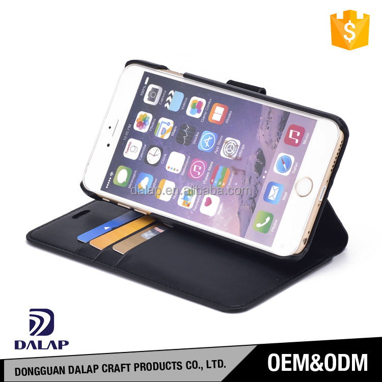Trade assurance free sample custom design genuine leather mobile phone case for iphone 6/6 plus/7/7 plus