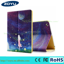 PU leather tablet cover fabric shockproof case for ipad 234