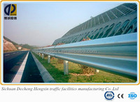 spaying plastic steel used guard rail for sale /hot dipp galvanized corrugated beam barrier