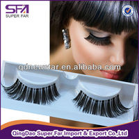 Natural softness fake lashes, human hair eye lashes