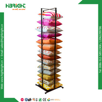 powd coated metal pillow hanging display rack