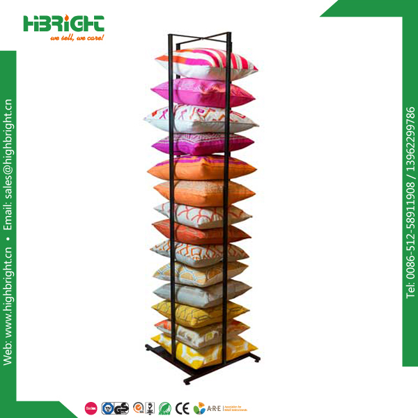 powder coated metal pillow hanging display rack
