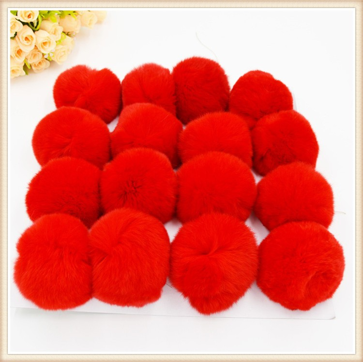 High quality factory promotes colorful fur ball key chain ball for Accessories rabbit fur ball