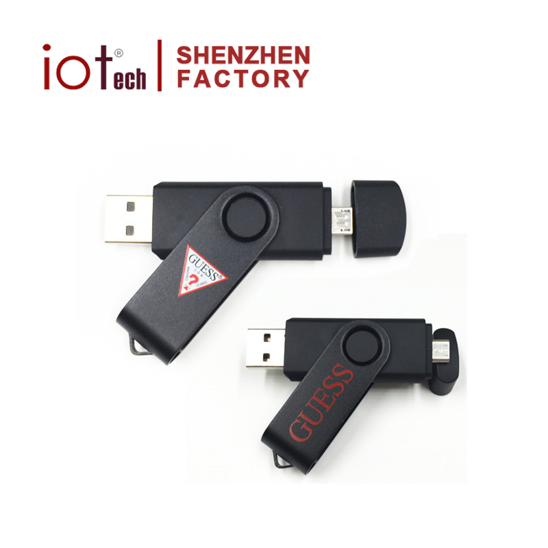 Cheap Fancy Gifts Custom Logo Dual Micro OTG USB Flash Drive 8GB 32GB Flash Memory USB Stick