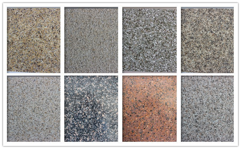 Liquid granite powder coating for countertops