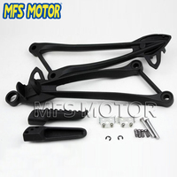 Foot Pegs Bracket For Kawasaki ZX10R ZX-10R 2008 2009 2010 Black Motorcycle parts