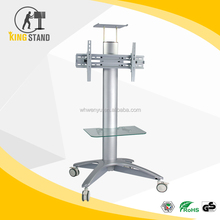 "Vertical rotation movable tv mounting bracket, floor stand TV carts with TV top-box plate FOR 32"" - 52"""