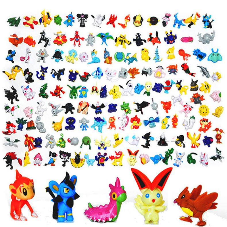 7cm Action Anime Pikachu Super Master Pokemon figure with 11 colors in stock
