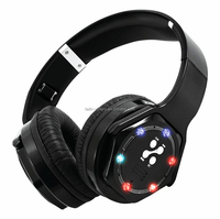 Luminous Bluetooth Headphone with Rechargeable Battery and Foldable Design