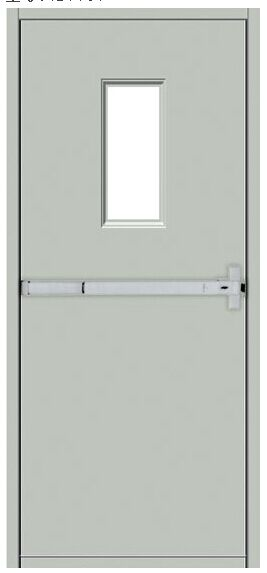 SC-S037 Fire rated steel fireproof door with push bar