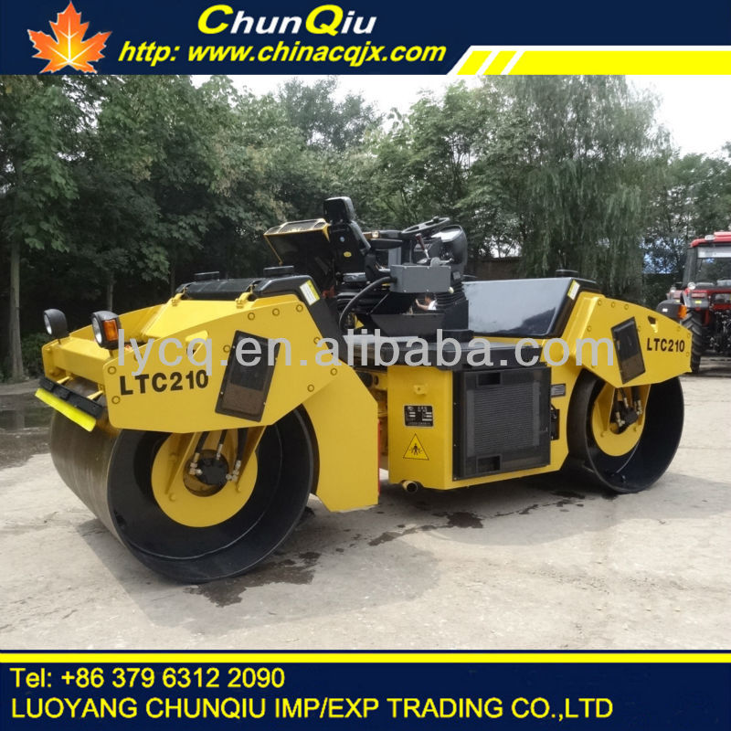 YTO 10 ton model LTC210 double drum vibrating road roller for sale with cummins engine