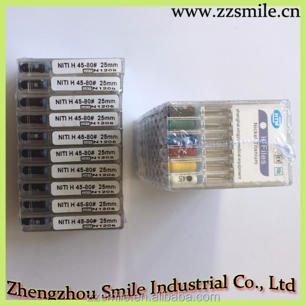 Hot Sale and High Quality CE Approved Nickel-Titanium H-Files/Dental Hand Use H-Files
