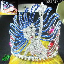 The new design, wholesale, large rhinestone mermaid beauty crown