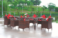 Rattan furniture outdoor dining table and chairs for restaurant
