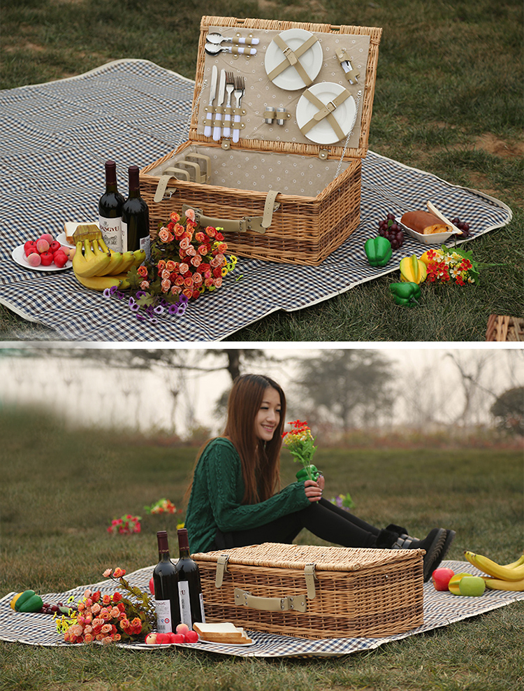 Wicker Basket Manufacturers South Africa : Wholesale high quality rectangle willow wicker picnic