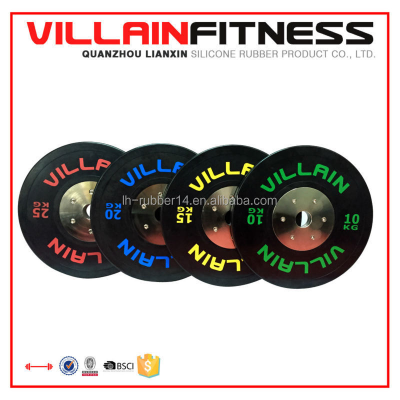 Black color 10KG,15KG,20KG,25KG Excellent Bumper Plates/weight plates