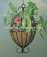 galvanized wrought iron hanging basket wholesale UK on sale