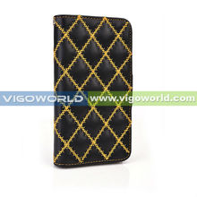 VIGOWORLD Diamond Embroidery Flip Magnet PU Leather Stand Mobile Phone Case For Samsung Galaxy S5 i9600