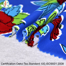 Good quality chlorine resistant big flower printed fabric nylon lycra stretch fabric wholesale