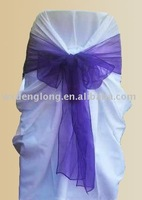 organza sash,organza bow,chair decoration tie organza