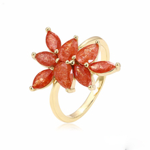 15381 xuping flower fashion gold plated jewelry 14k gold ring models