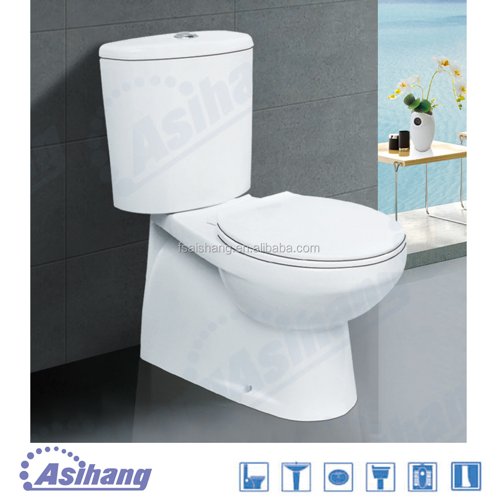 Foshan china factory western wc price toilet wash down two-piece toilet