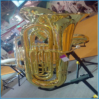 4 Piston Valve Tuba, Bb key Tuba, Gold lacquer Tuba