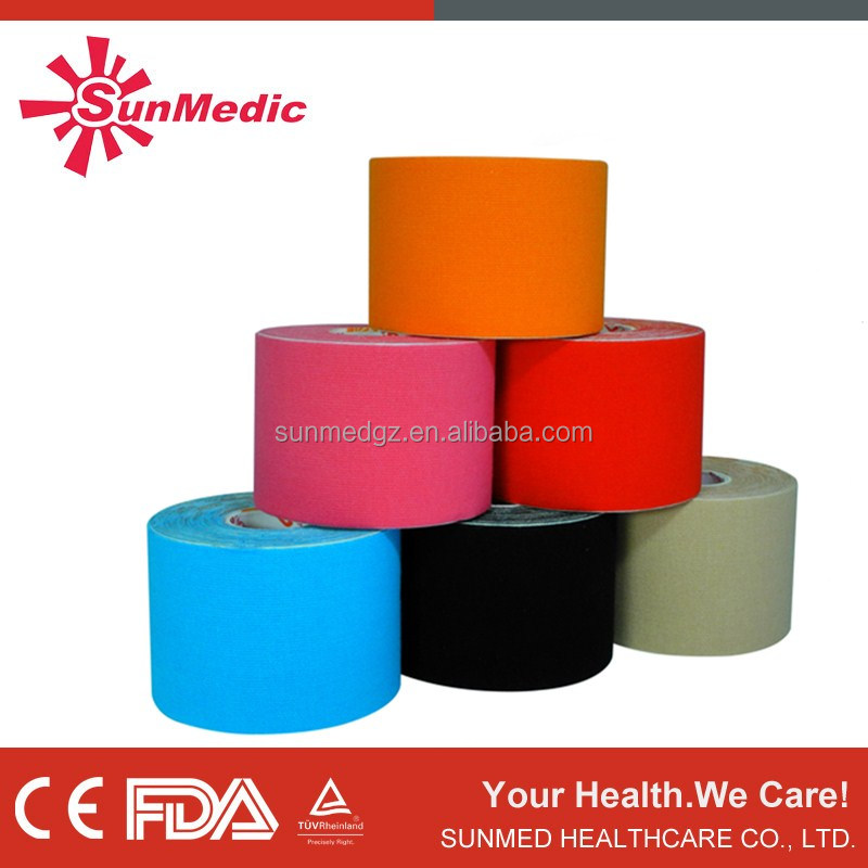 Colored medical tape, Skin color surgical tape, Kinesiology Tape