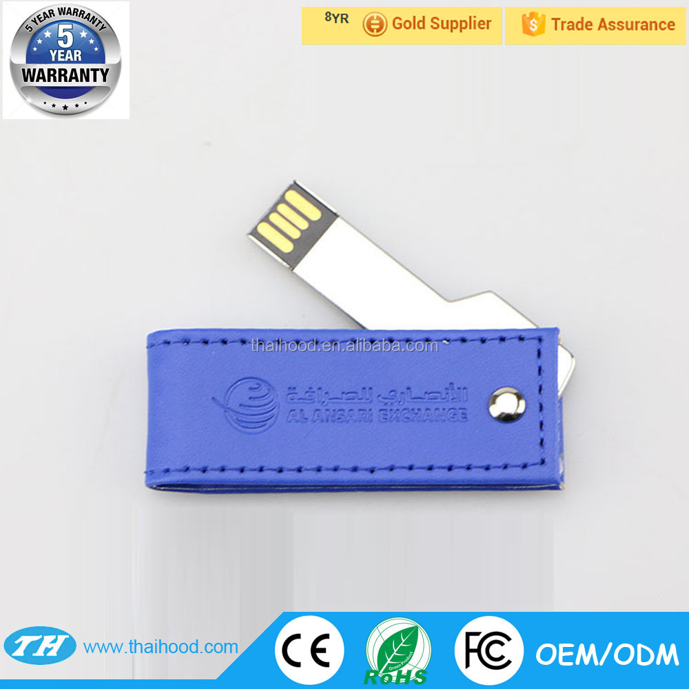 executive leather keychain usb flash drive with emboss logo 4GB 8GB 16GB promotional gifts