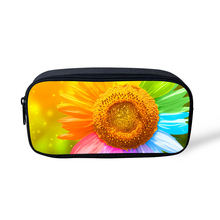 Good Quality 3D Effect Flower Printed Pencil Case Bag for School Students Polyester Fabric Custom Design Available