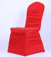Factory direct new hotel wedding banquet universal pull wrinkled folds stretch chair cover wedding chair cover