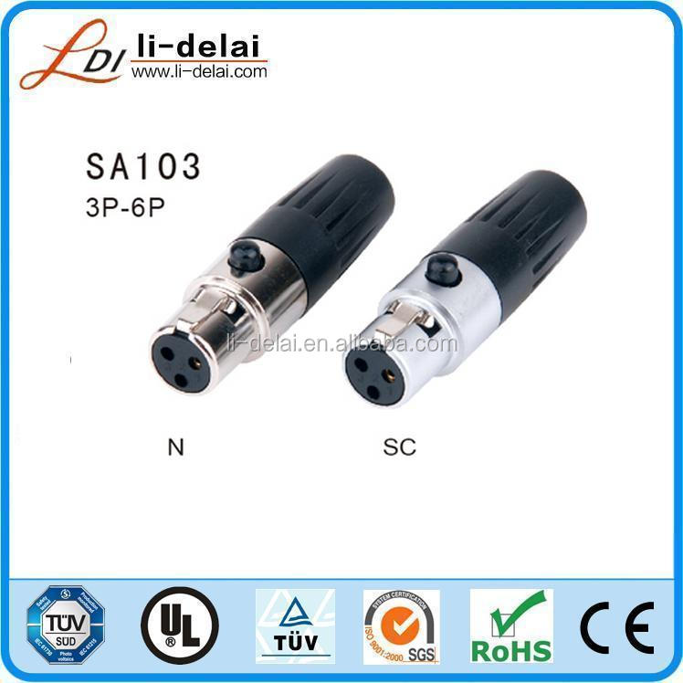 5Pin Female Mini XLR Connector audio