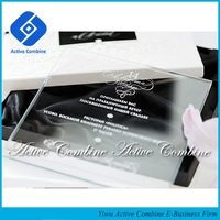 Made in China Guangzhou Pujiang Yiwu Crystal Glass Marriage Party Invites Wedding Invitation Wholesaler