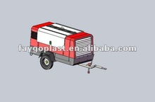 Oil-less diesel portable screw air compressor
