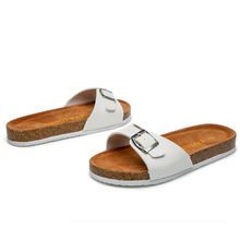 Hot Sale 2018 Ladies Sandal Shoes Chappal Simply One Buckle Cork Footbed Slippers C1012