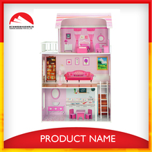 happy family kids wooden diy doll house