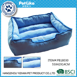 blue rectangle plush dog bed funny dog beds