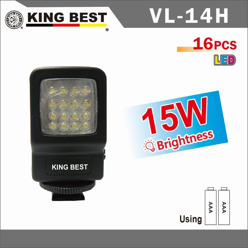 KINGBEST 16pcs LED / 15W Professional studio Photography for Sony Canon Nikon Photography Lighting