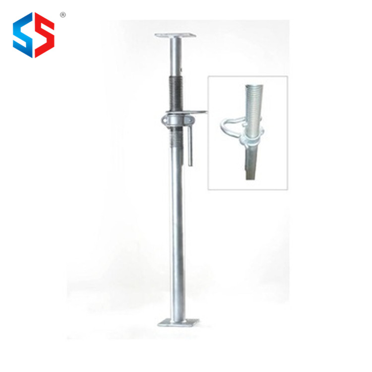 Telescopic Galvanize Steel Shoring Pole For Scaffolding Construction