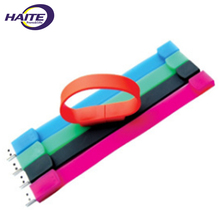 Custom usb flash drive wristband usb silicone bracelet