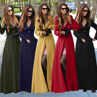 2016 newest coat design five colors women high quality fashion new winter long coat