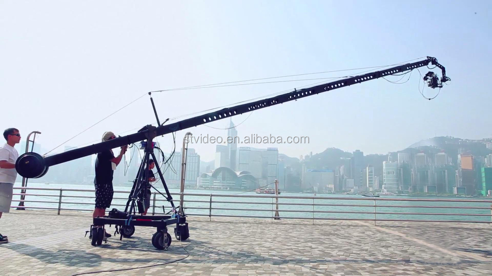 Broadcasting video camera jib crane, 3m,5m,8m, 12m lite jib crane for light camera & DV Shooting production