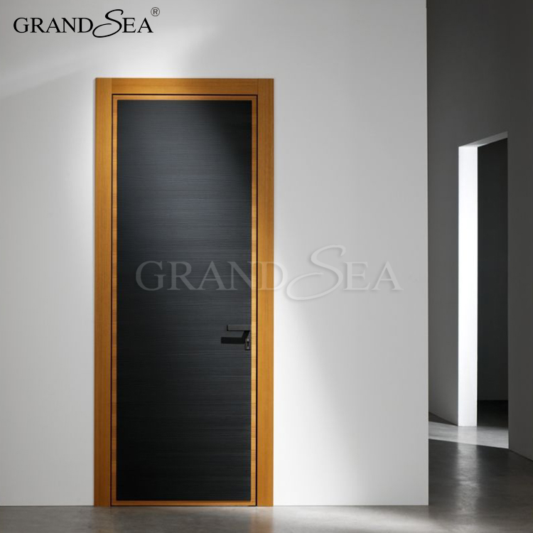 Offset buy casement french entry solid core wooden flush door for modern house