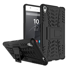 Hybrid Shockproof Kick Stand PC TPU Dazzle Case Cover Case For Sony Xperia XA Ultra