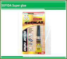 blister packing and strong cyanoacrylate adhesive super glue