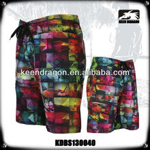 flower sublimation hawaiian hot sexy shorts mens custom swimwear