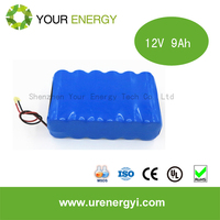 li ion batteries no pollution rechargeable 12v battery waterproof 12v 9ah ups battery