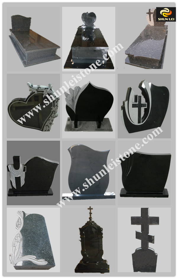 Best sell indian black tombstone with stone engraving as well as stone etching